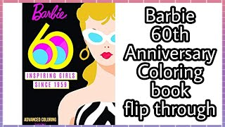Barbie 60th Anniversary Coloring book