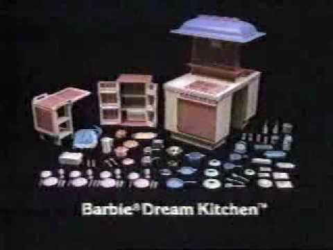 Vintage 80 S Barbie Dream Kitchen Commercial Youtube