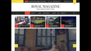 Hoe Maak Magazine Krant Website in WordPress - Royal Magazine Thema Aanpassen