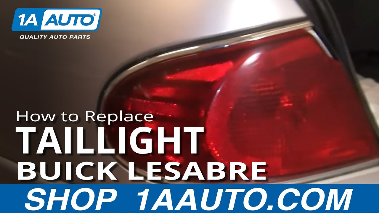 How To Replace Tail Light 01 05 Buick Lesabre