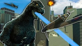 We Must Defend the City from Godzilla in Gmod! - Garry's Mod Multiplayer Godzilla Survival