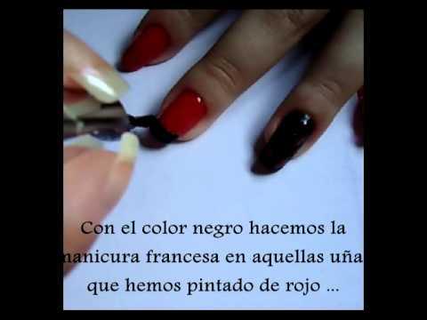 Uñas Rojas Y Negras