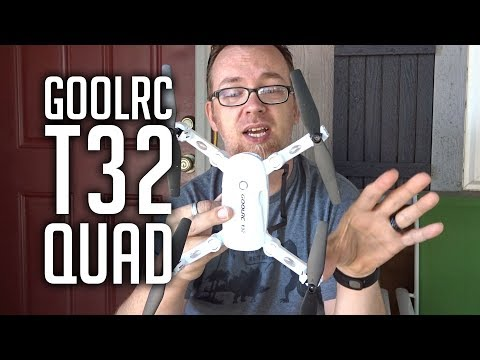 Review: GoolRC T32 Folding 720p HD FPV Camera Drone Flight Test