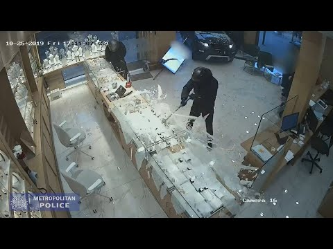 CCTV Robbers Smash Up Jewelry Shop With Hammers In Dramatic London Heist