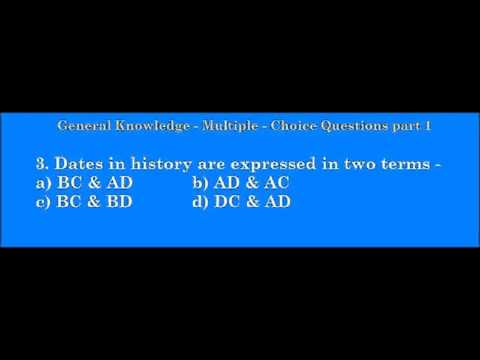 General Knowledge - Multiple Choice Questions part 1 - 6th ...