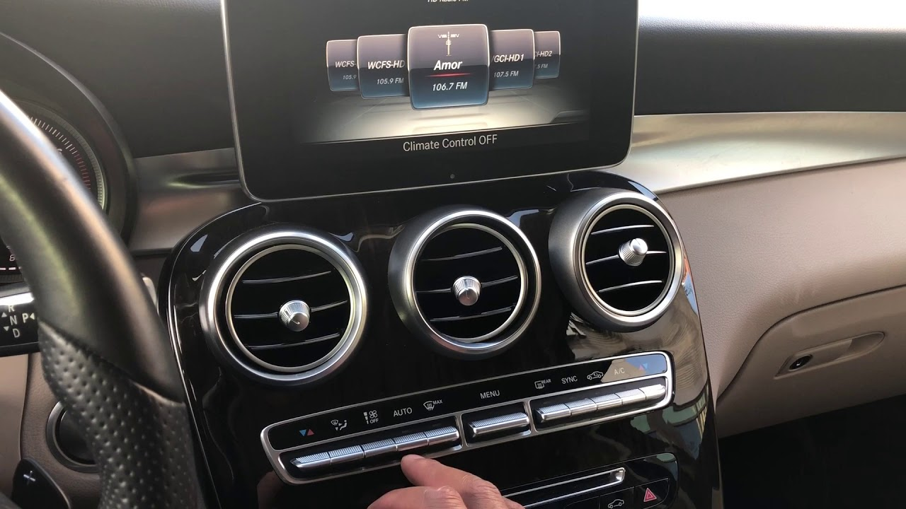 Heater And Air Conditioning Controls Mercedes Benz Glc