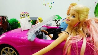 Мультики для девочек: Кен и Барби едут на мойку