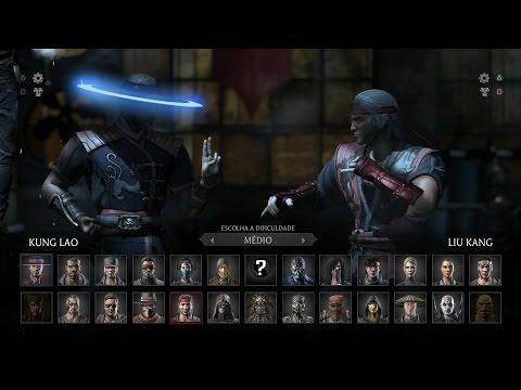 Mortal Kombat X: Kung Lao vs Liu Kang Gameplay PT/BR (DUBLADO) PS4