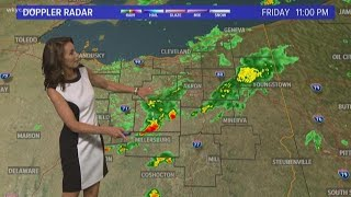 11 p.m. weather forecast for August 17, 2018