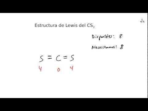 Estructura De Lewis Del Disulfuro De Carbono Cs2 Youtube