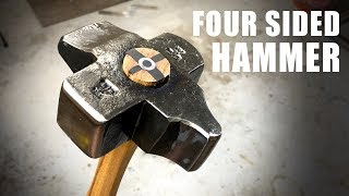 Making a Four Sided Hammer - Blacksmithing