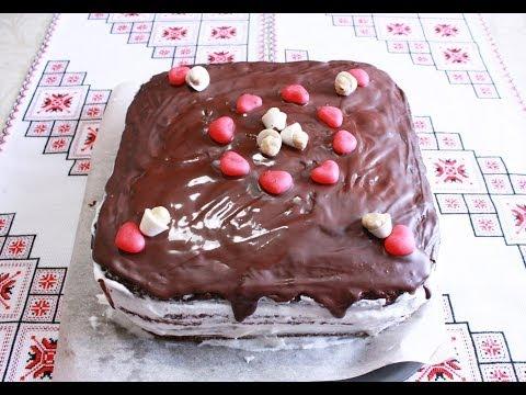 Торт Прага рецепт Крем для торта Как приготовить торт пражский Рецепти тортів Рецепт пражского торта