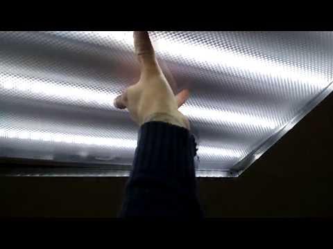 Замена люминесцентных светильников на светодиодные под напряжением.