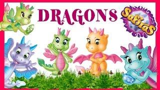 Дракони Сафирас від фірми Сімба розпакування мультик Dragons Safiras from Simba unpacking cartoon