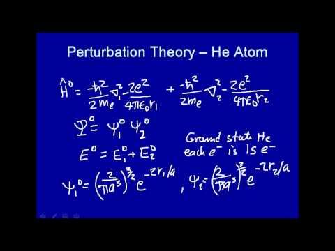 Perturbation theory - He atom