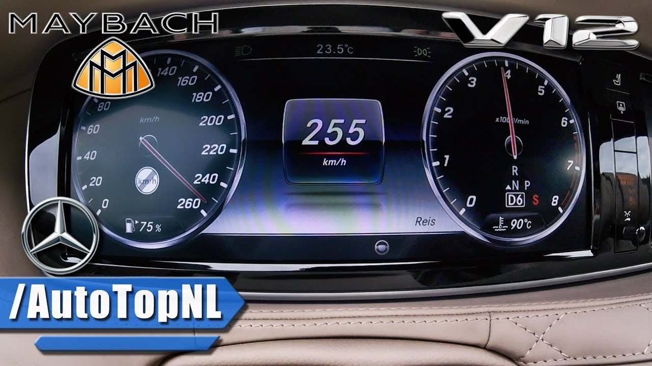 MERCEDES MAYBACH S Class S600 6.0 V12 BiTurbo ACCELERATION & TOP ...