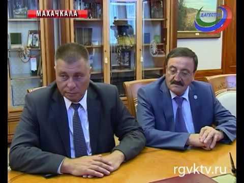 Встреча замглавы ФАС Андрея Кашеварова с президентом Республики Дагестан Рамазаном Абдулатиповым
