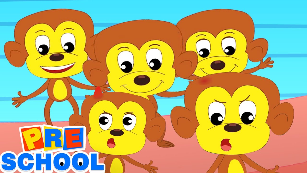 Five Little Monkeys | Nursery Rhymes and Kids Songs | Baby Rhyme with Children