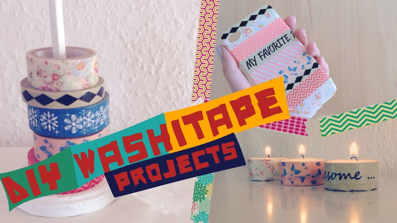 Washi Tape Crafts Diy Washitape Projects Easy  Youtube