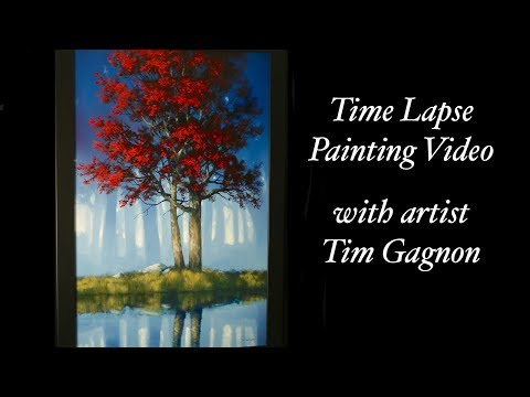 Hiding My Reflection – A time lapse video of my latest landscape oil painting – Tim Gagnon