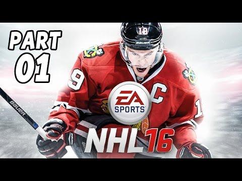 Let's Play NHL 16 Gameplay Deutsch German PS4 Part 1 - Kleiner Einblick