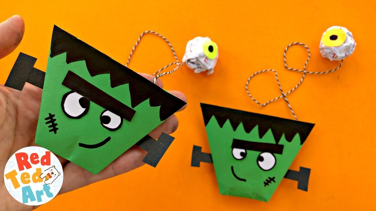 Frankenstein Cup Ball Game For Halloween