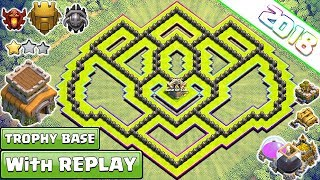 New 'BEST' Town Hall 8 TROPHY Base 2018 With REPLAY Proof | COC Th8 Base Design - Clash of Clans
