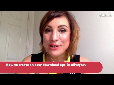 How to create an easy download opt-in for your aud