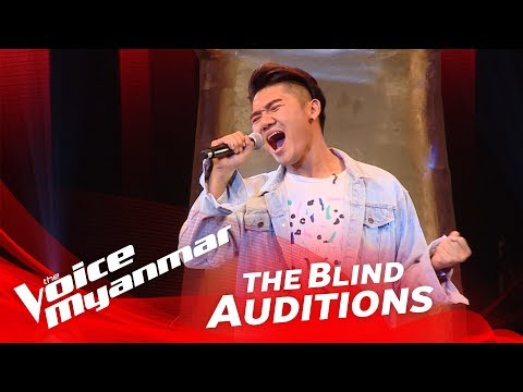 "The Voice Myanmar 2018 Blind Audition - Htoo Aung Ko: ""All By Myself"""