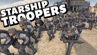 EPIC Mobile Infantry vs 1000 BUGS ! Starship Troopers mod (editor battle)
