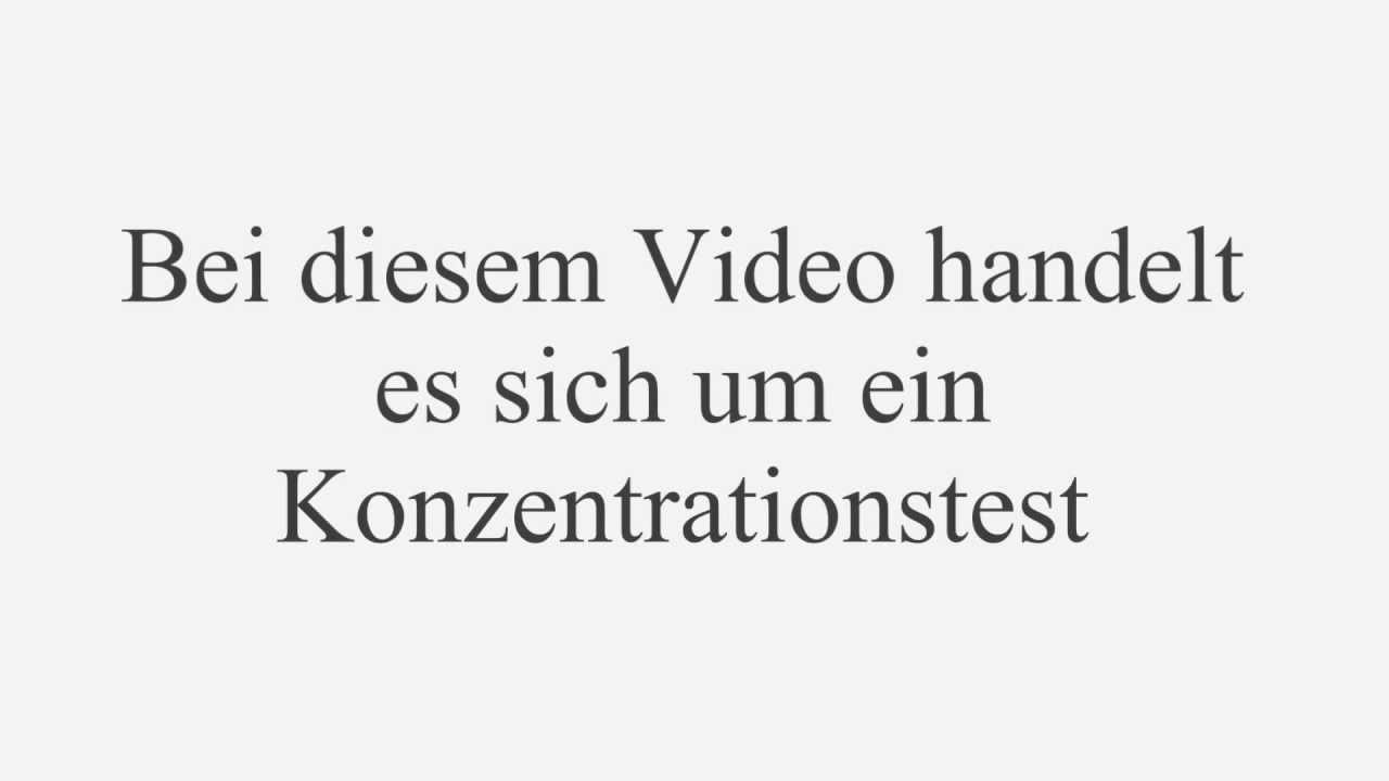 Konzentrationstest Youtube