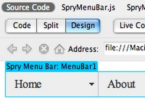 Dreamweaver Tutorial: Drop Down Menu