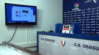 Rueda de prensa Osasuna C.A. vs Getafe CF