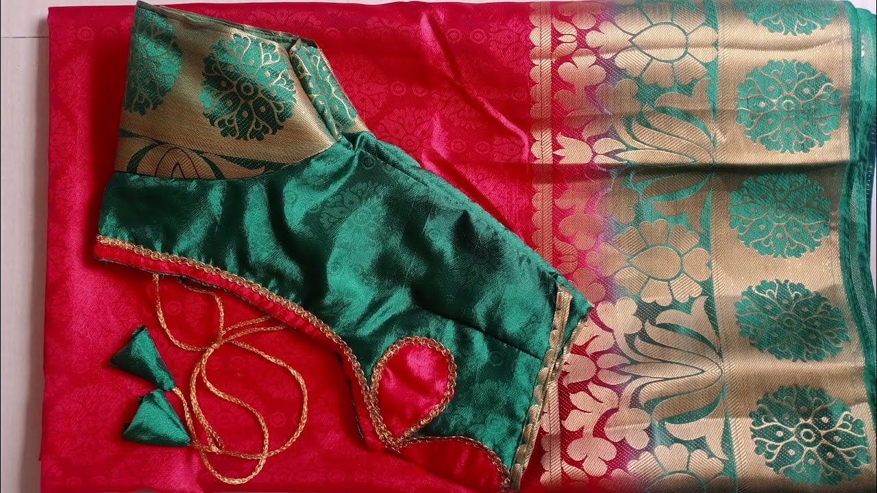 Very easy and beautiful blouse back neck design /cutting and stitching /blouse Designs /