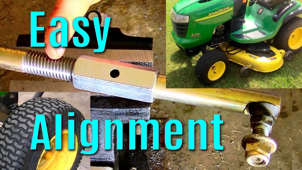 Make An Adjustable Steering Linkage For Lawn Garden