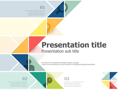 triangle pattern ppt template animation