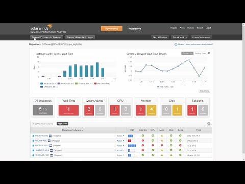 How To Monitor Databases on AWS Using SolarWinds Database Performance Analyzer