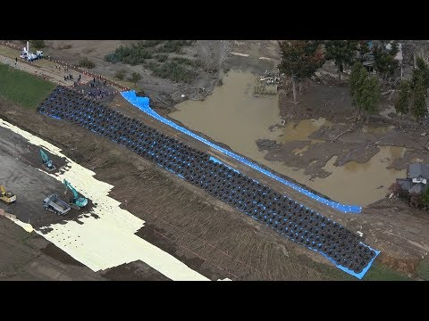 千曲川堤防決壊の現場周辺 長野市内の様子