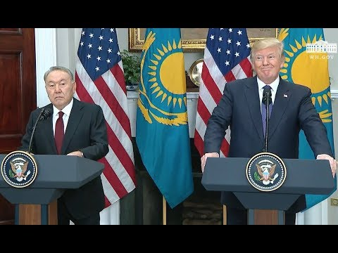 Trump And President Of Kazakhstan- Joint Statements- Full Event