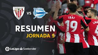 Resumen de Athletic Club vs Deportivo Alavés (2-0)