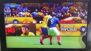 Coupe du monde j1 France-Colombie (pes16-17)CPU VS CPU