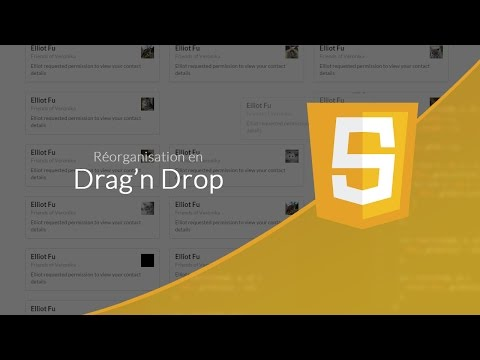 Tutoriel Javascript : Réorganisation en drag'n drop