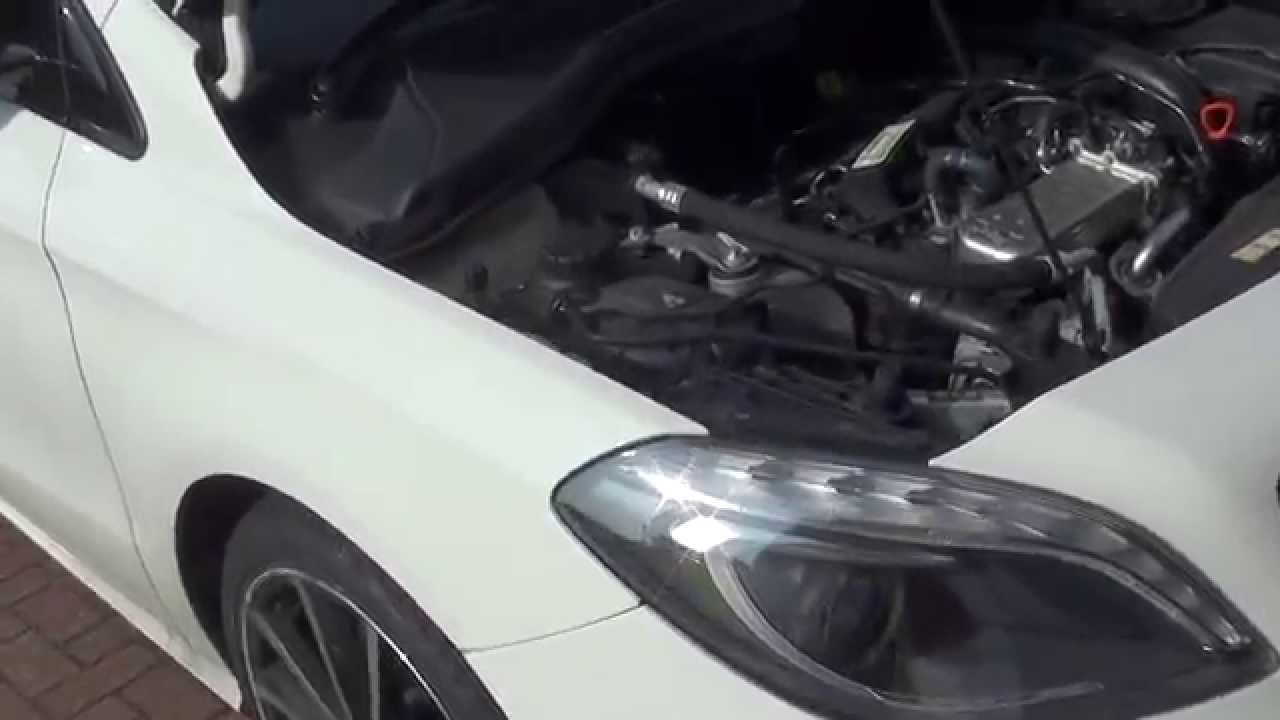 Mercedes B Class W246 Engine Coolant Top Up Location