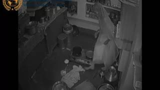 LADY SPOOKED BY GHOST CAUGHT ON CCTV