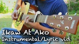 Ikaw At Ako (TJ Monterde) Guitar Cover / Lyric Video (3 guitar jam)