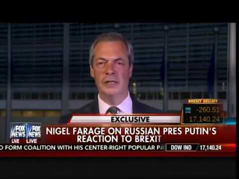 Nigel Farage Putin Was More of a Statesman than Obama During Brexit Campaign