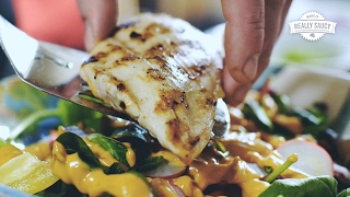 Really Saucy Grilled Chicken Southwest Salad Recipe