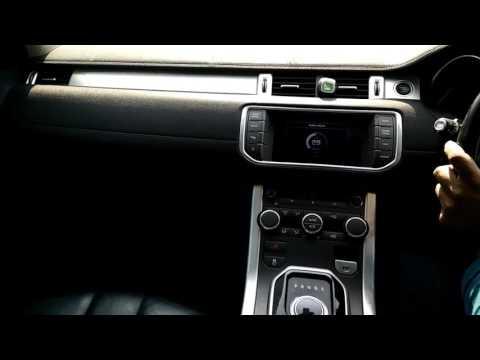 Range rover Evoque music system test