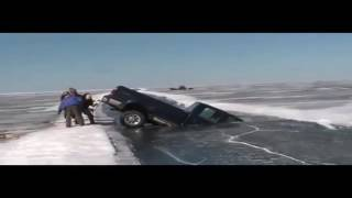 Vehicles Falling Through Ice Compilation...