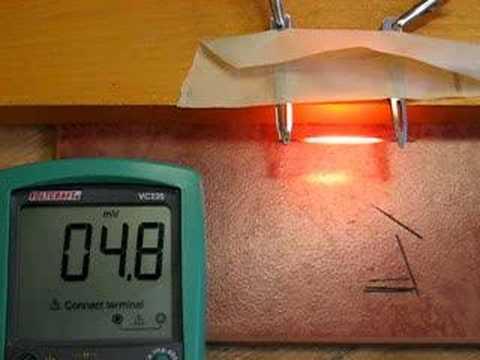 Glowing pencil lead